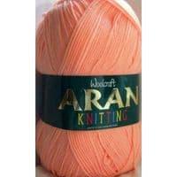 Woolcraft Aran Knitting Yarn 400g 100% Acrylic 405 Peach